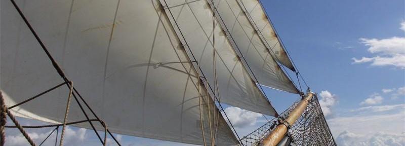 Roald Amundsen Bow Sails