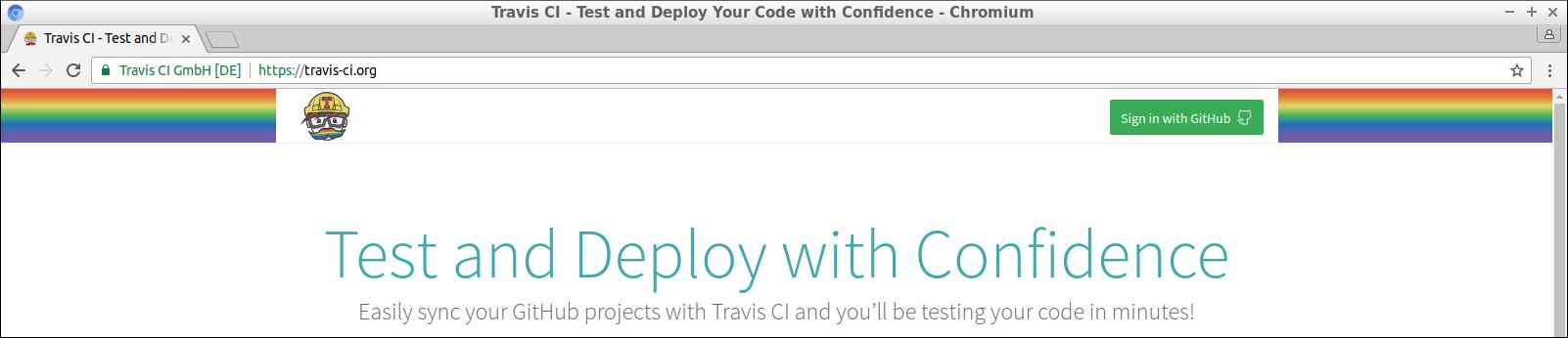 Travis homepage