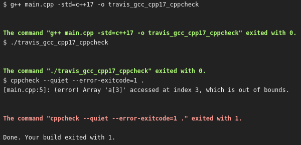 cppcheck finds the access violation